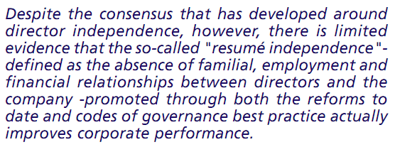 corporate governance and firm performance is there a relationship