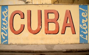 CUBA painted on wall