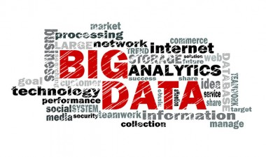 Typography art with the words 'Big Data' in red and related terms surrounding it.