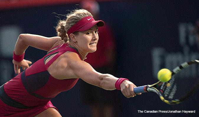 Eugenie Bouchard playing tennis