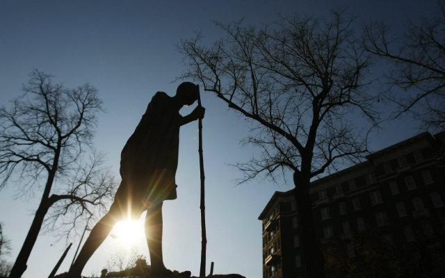 Silhouette of Ghandi
