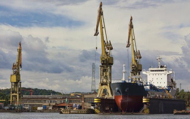 Image of a Polish shipyard