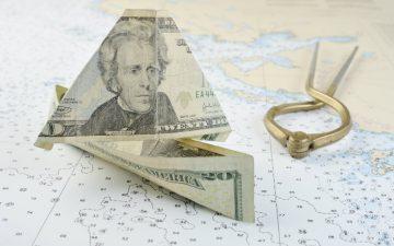 Image of a folded American twenty dollar bill