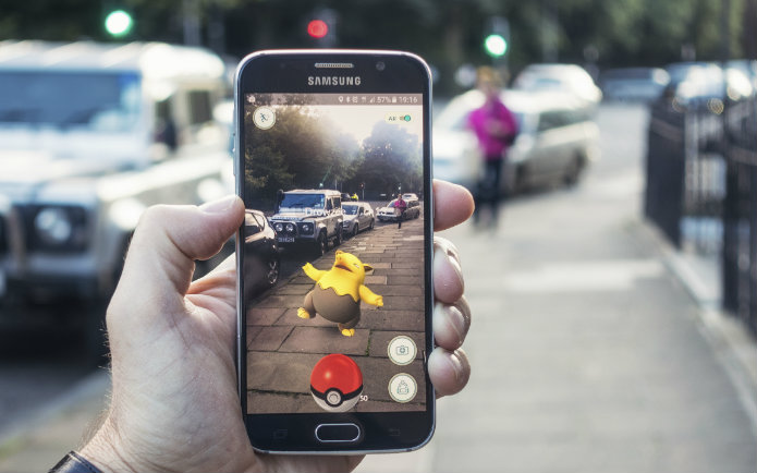 Image of a Pokemon Go game