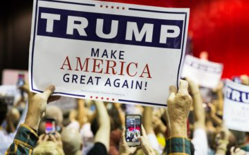 """Image of a Trump """"Make America Great Again"""" sign"""