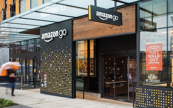 Exterior picture of Amazon Go