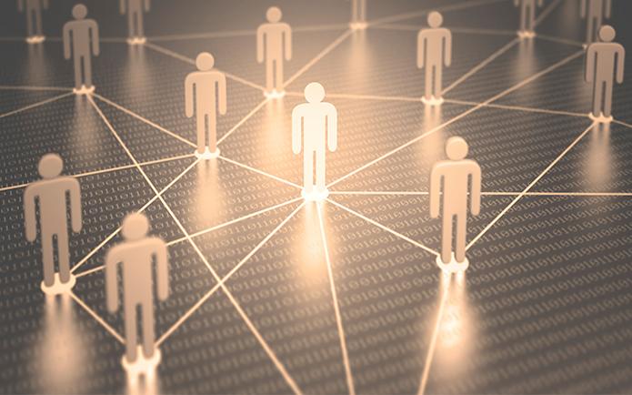 2D people linked together