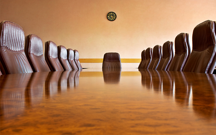 Meeting room with a big polished table and arm-chairsOther photos from this business series