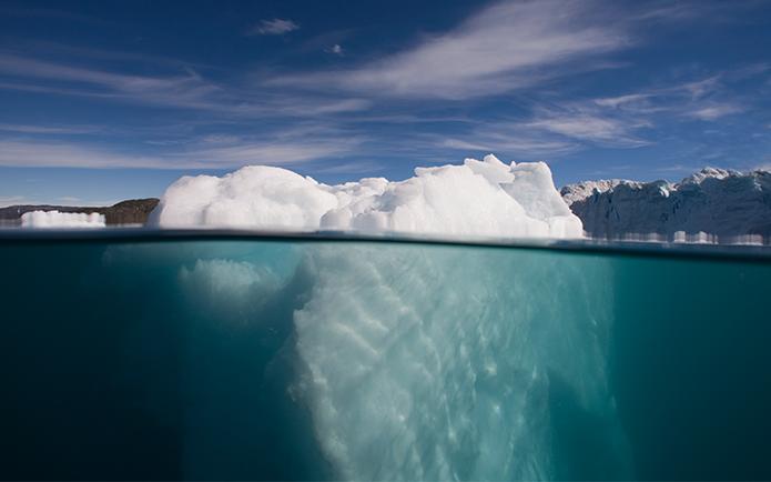 Iceberg Underwater in Ililussat.