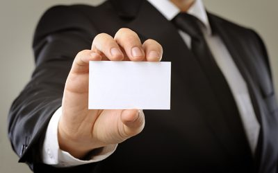 showing blank business card royalty